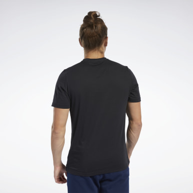 T-shirt à col rond Graphic Series Reebok 1895 Noir Hommes Fitness & Training