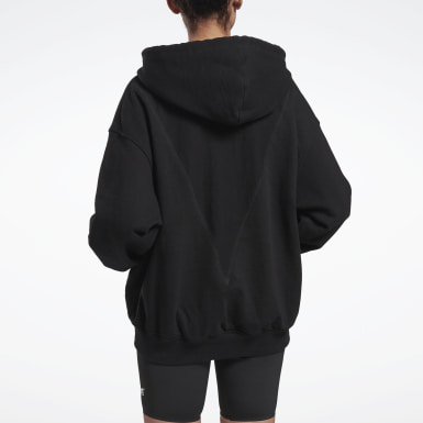 Women Training Black VB Full Zip Hoodie