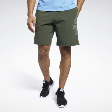 Men Cross Training Green Reebok CrossFit®  Epic Base Large Branded Shorts