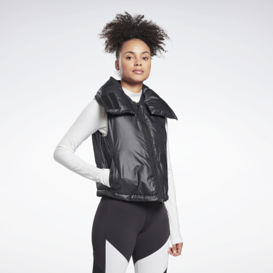 черный Жилет Outerwear Synthetic Down Puffa