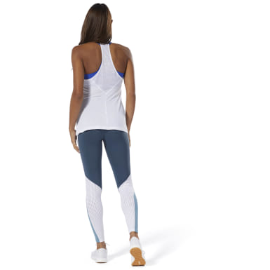 Tights Lux Colorblock Azul Mujer Fitness & Training