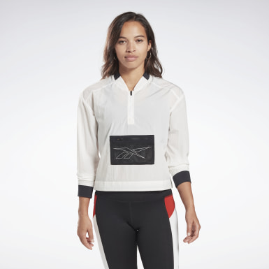 Women Running White One Series Running Bomber Jacket
