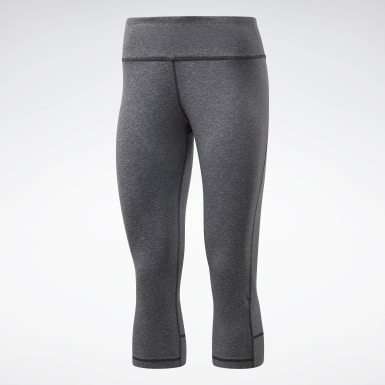 Women Hiking Grey Reebok Lux 3/4 Tights 2.0