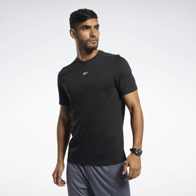 Men Fitness & Training Black Workout Ready Supremium Tee