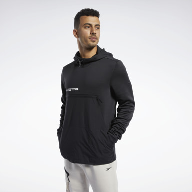 Men Fitness & Training Black Speedwick Hoodie