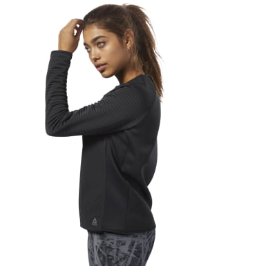 Women Training Black Thermowarm Deltapeak Crew Neck