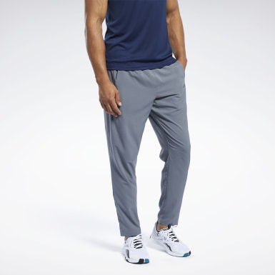 Men Fitness & Training Grey Workout Ready Track Pants