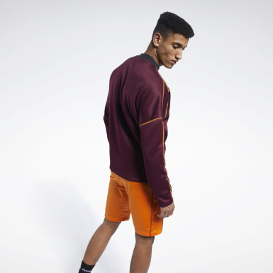 Men Fitness & Training Burgundy MYT Crew Sweatshirt