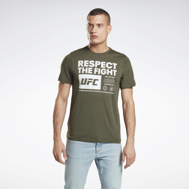 Men MMA Green UFC Fan Gear Text Tee