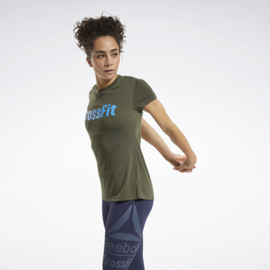 Women CrossFit Green Reebok CrossFit® Read Graphic Tee