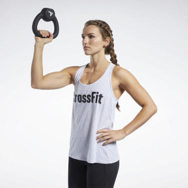 Women Cross Training Grey Reebok CrossFit® Read Tank Top