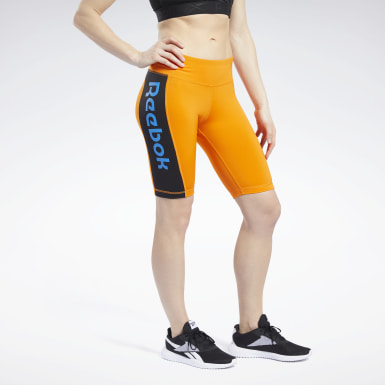 Women Cycling Orange MYT Shorts