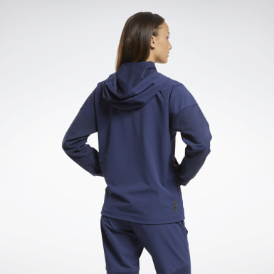 Women HIIT Blue United By Fitness Control Hooded Jacket