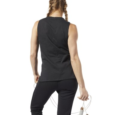 Women Training Black Training Supply Tank Top