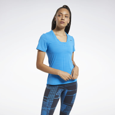Women Cycling Blue ACTIVCHILL Athletic T-Shirt