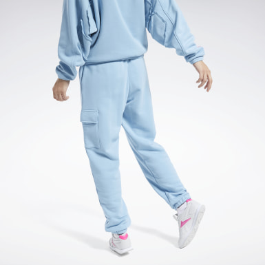 Women Classics Blue Washed Denim Track Pants
