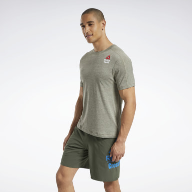 Men Cross Training Green Reebok CrossFit® ACTIVCHILL+COTTON Tee