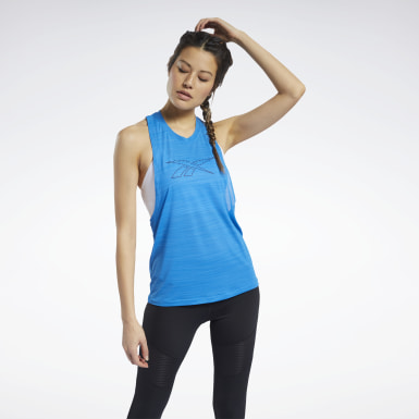 Camiseta sin mangas Workout Ready ACTIVCHILL Azul Mujer Ciclismo