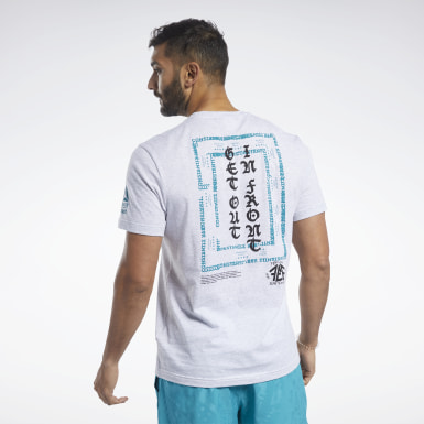 Polera Crossfit® Get Out In Front Gris Hombre CrossFit