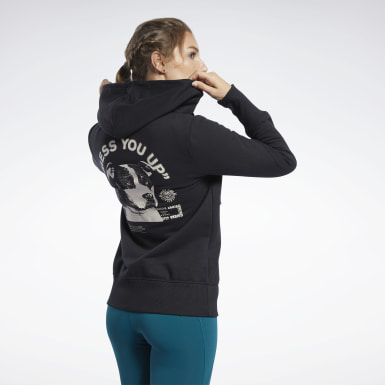 Women Cross Training Black Reebok CrossFit® Full-Zip Hoodie