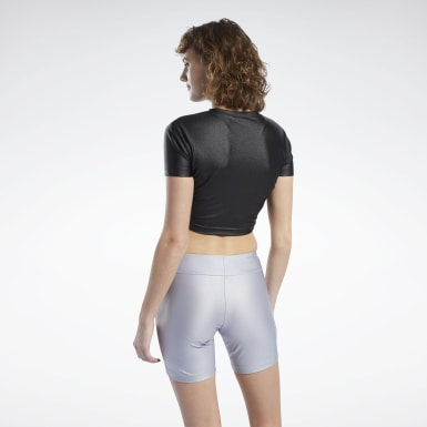 MISBHV CROPPED TEE Negro Mujer Classics