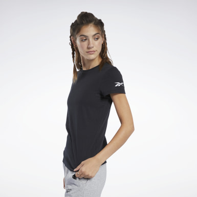 T-shirt Logo Nero Donna Fitness & Training