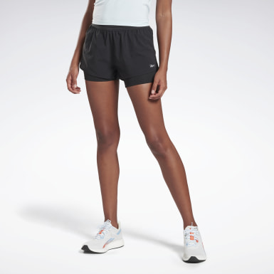 Women Terrengløping Black One Series Running Epic Two-in-One Shorts