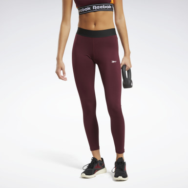 Dam Fitness & Träning Burgundy Training Essentials Linear Logo Tights