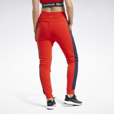 Pantaloni Training Essentials Linear Logo Rosso Donna Fitness & Training
