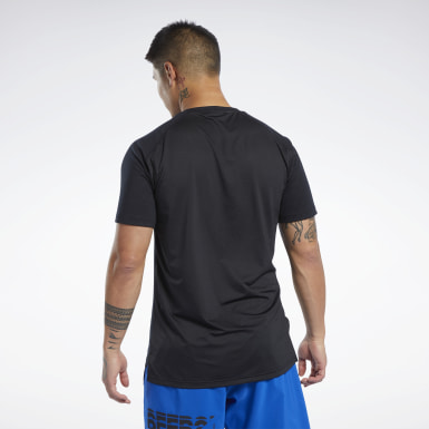 Heren Yoga Zwart SmartVent T-shirt