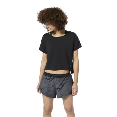 Crop top Combat Perforated Negro Mujer Fitness & Training