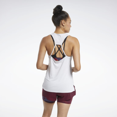 Women Fitness & Training White ACTIVCHILL Athletic Tank Top