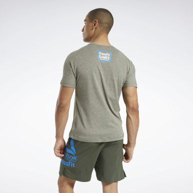Men Cross Training Green Reebok CrossFit® ACTIVCHILL+COTTON T-Shirt