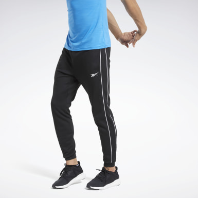 Men Training Black Workout Ready Pants
