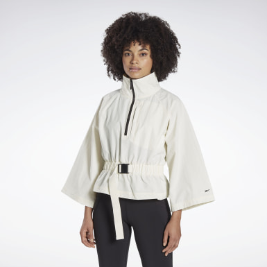 Women Yoga White Reebok x ba&sh Roonie Woven Jacket