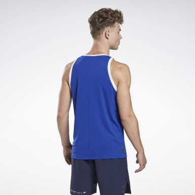 Men Studio Blue LES MILLS® B-Ball Sleeveless Tee