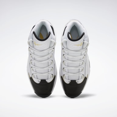 Men Classics White Question Mid Shoes
