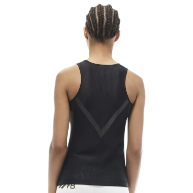 Women Fitness & Training Black Victoria Beckham Tank Top