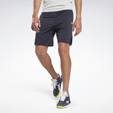 Workout Ready Mélange Shorts Bleu Hommes Yoga