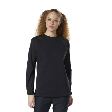 Women Fitness & Training Black Training Supply Midlayer Sweatshirt