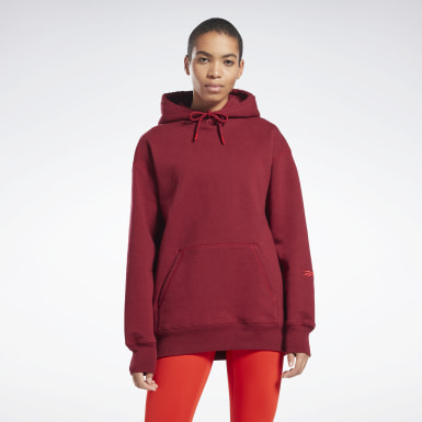 Women Fitness & Training Burgundy VB Hoodie