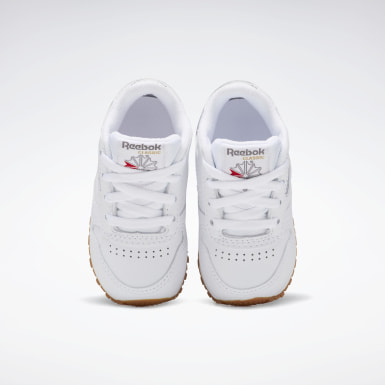 Kids Classics White Classic Leather Shoes - Toddler