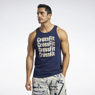 Men Training Blue Reebok CrossFit® Games Logo Tank Top