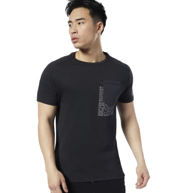 T-shirt LES MILLS® Move Nero Uomo Studio