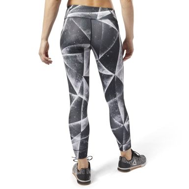 Women Training Black Reebok Lux Bold 7/8 Length 2 Leggings