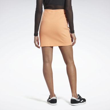 Women Classics Orange Classics Tight Skirt