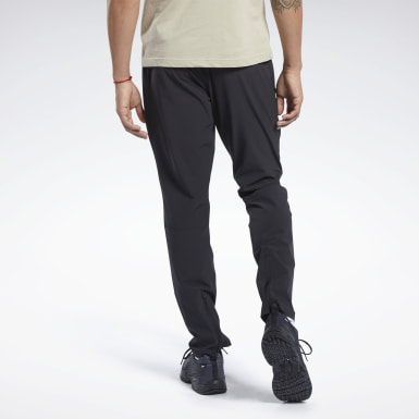 Men Training Black Speedwick Woven Track Pants