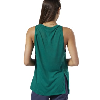 Women Training Green One Series Burnout Tank Top