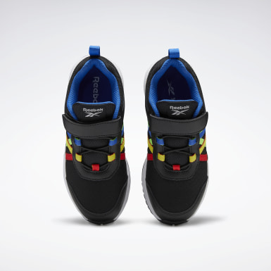 Boys Running Black Reebok Road Supreme Shoes