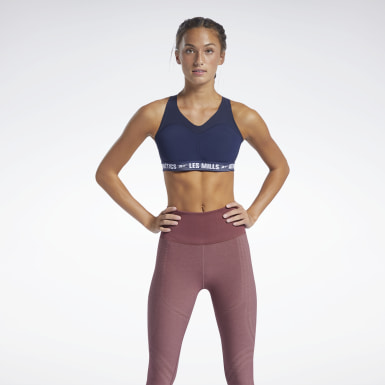 Frauen Studio Les Mills® PureMove Plus Sports Bra Blau